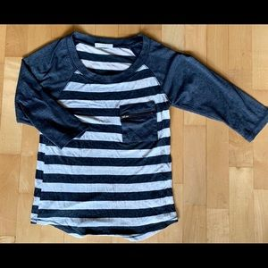 Pacsun Striped Tee (with front zipper pocket!)